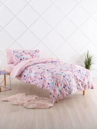 Unicorn Garden Duvet Cover Set