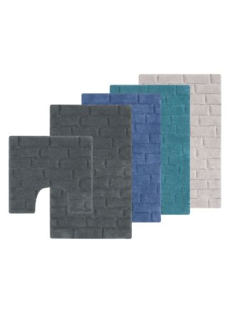 Cobblestone Bath Mat Set