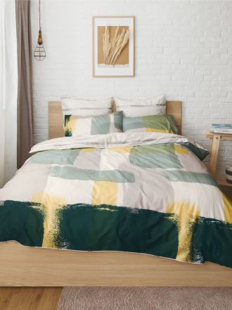 Painted Check Duvet Cover Set