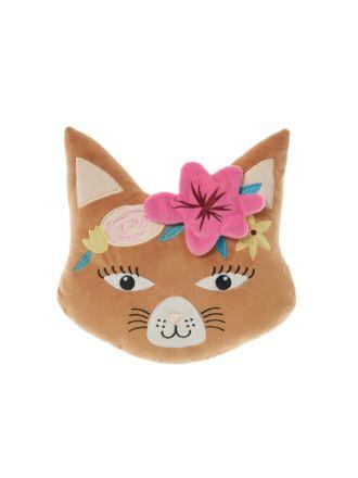 Caitlin Cat Face Novelty Cushion