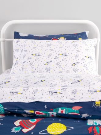 Space Dogs Fitted Sheet