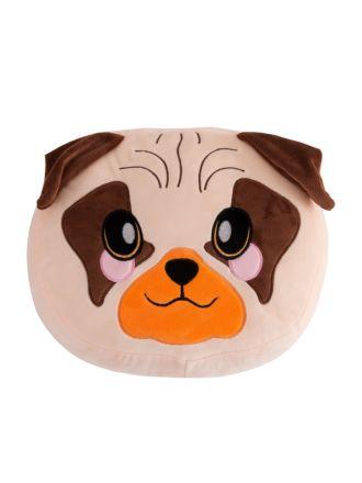 Percy Pug Novelty Cushion