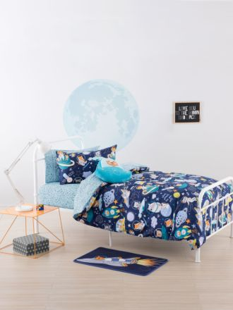 Zoom To The Moon Duvet Cover Set