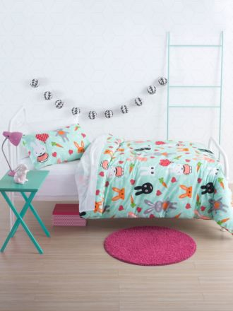Hip Bunnies Duvet Cover Set